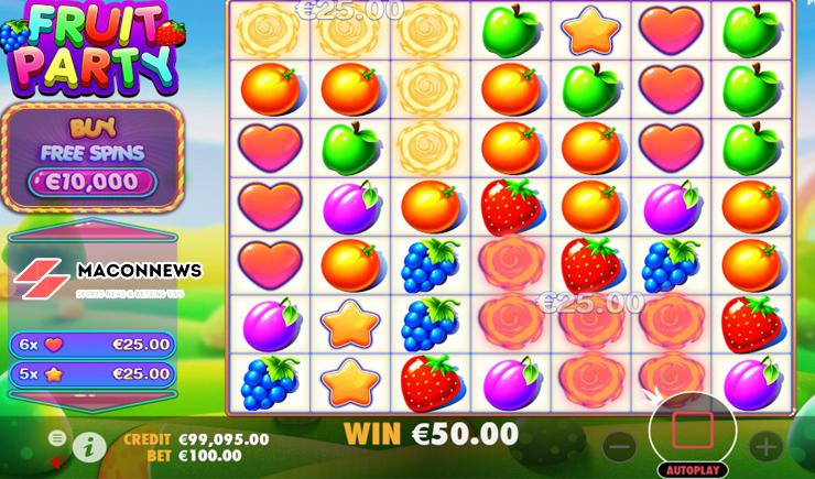 Hướng dẫn cách chơi Fruit Party Slot